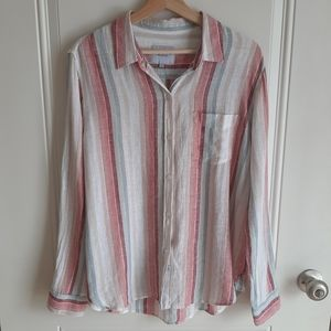 Rails Tropic Stripe Charli Top Shirt Size Medium
